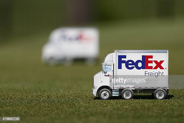 Tee markers on the 8th tee during round one of the FedEx St Jude Classic at TPC Southwind on June 11 2015 in Memphis Tennessee