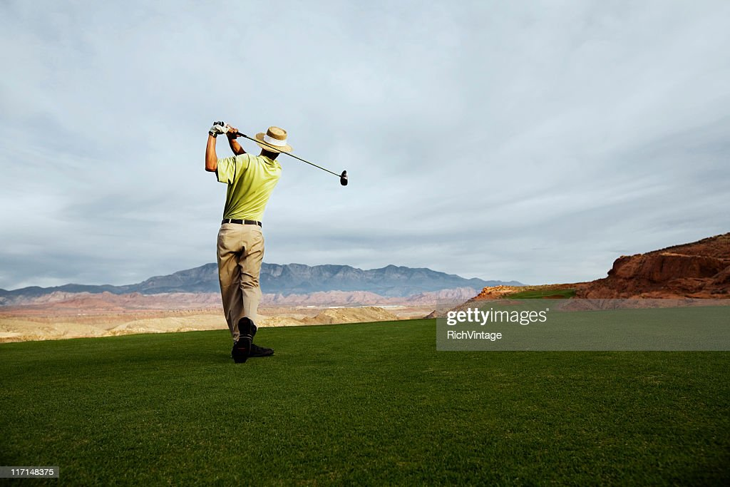 Teeing Off : Stock Photo