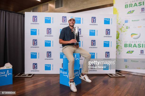 TeeK Kelly of the United States during the final round of the PGA TOUR Latinoamerica 64 Aberto do Brasil at the Olympic Golf Course on October 15...