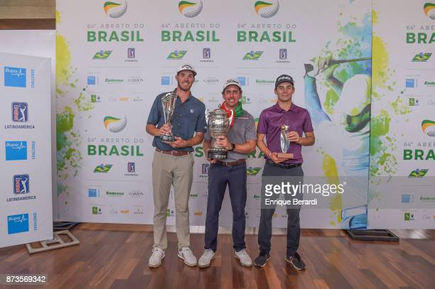 TeeK Kelly Rodolfo Cazaubon and Joaquin Niemann during the final round of the PGA TOUR Latinoamerica 64 Aberto do Brasil at the Olympic Golf Course...