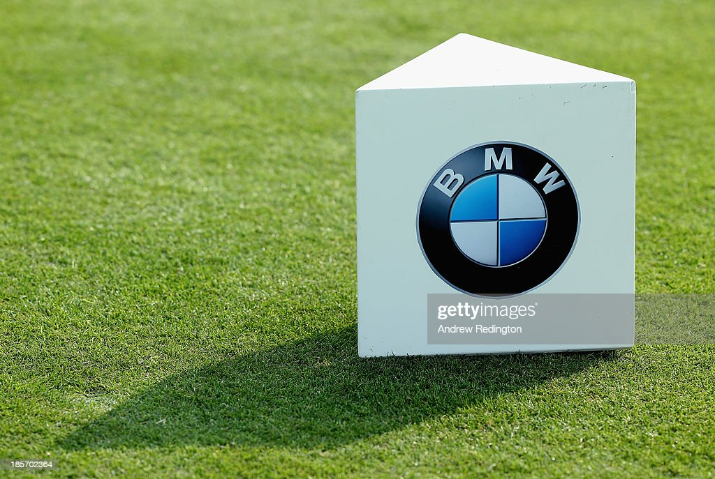 A tee-marker during the first round of the BMW Masters at Lake Malaren Golf Club on October 24, 2013 in Shanghai, China.