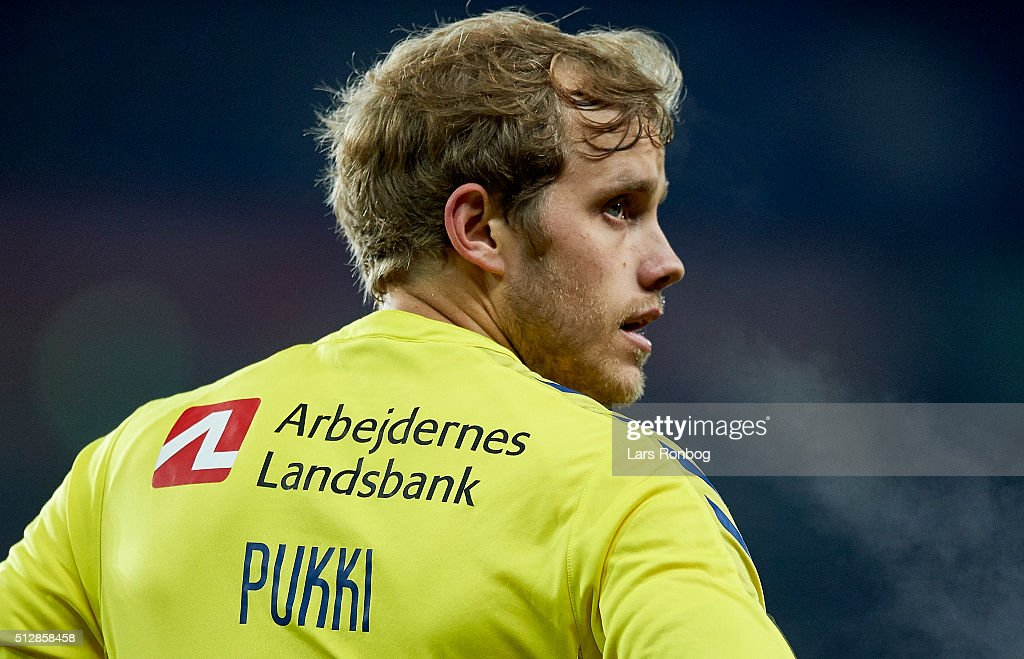 <a gi-track='captionPersonalityLinkClicked' href=/galleries/search?phrase=Teemu+Pukki&family=editorial&specificpeople=8055578 ng-click='$event.stopPropagation()'>Teemu Pukki</a> of Brondby IF looks on during the Danish Alka Superliga match between Brondby IF and Hobro IK at Brondby Stadion on February 28, 2016 in Brondby, Denmark.