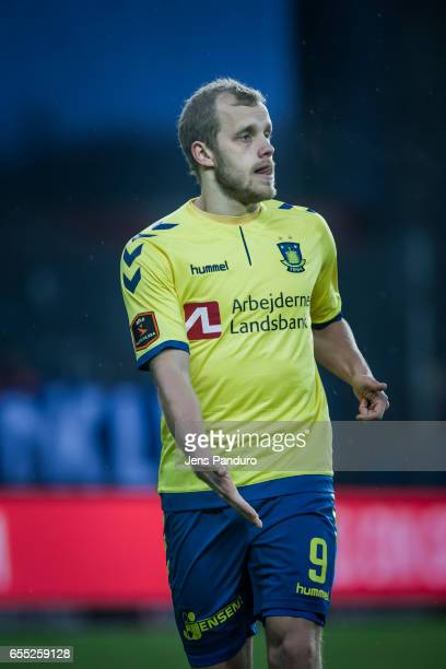 Teemu Pukki of Brondby IF the Danish Alka Superliga match between Brondby IF and Lyngby BK at Brondby Stadion on March 19 2017 in Brondby Denmark