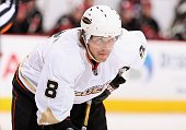 Teemu Selanne of the Anaheim Ducks during the NHL game against the Phoenix Coyotes at Jobingcom Arena on October 31 2009 in Glendale Arizona The...