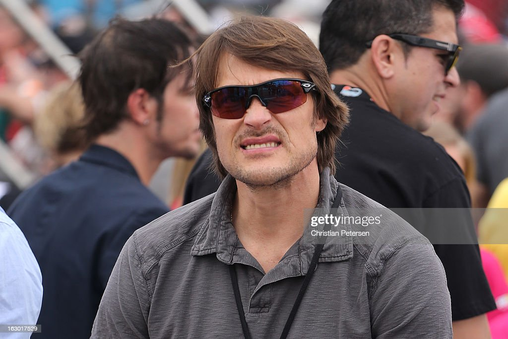 Teemu Selanne of the NHL's Anaheim Ducks watches the NASCAR Sprint Cup Series Subway Fresh Fit 500 at Phoenix International Raceway on March 3, 2013 in Avondale, Arizona.