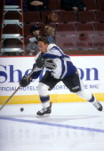 Teemu Selanne of the World and Mighty Ducks of Anaheim skates on ice before the 1998 48th NHL AllStar Game against North America on January 18 1998...