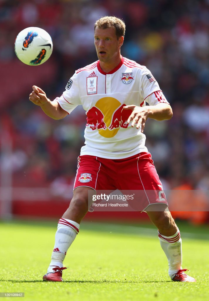 Teemu Tainio of New York Red Bulls controls the ball during the Emirates Cup match between New York Red Bulls and Paris St Germain at the Emirates Stadium on July 30, 2011 in London, England.
