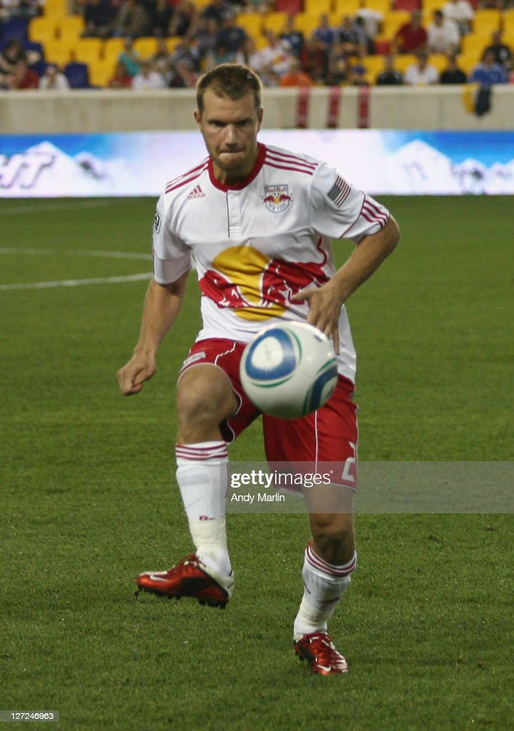 Teemu Tainio #2 of the New York Red Bulls controls the ball against the Portland Timbers during the game at Red Bull Arena on September 24, 2011 in Harrison, New Jersey.