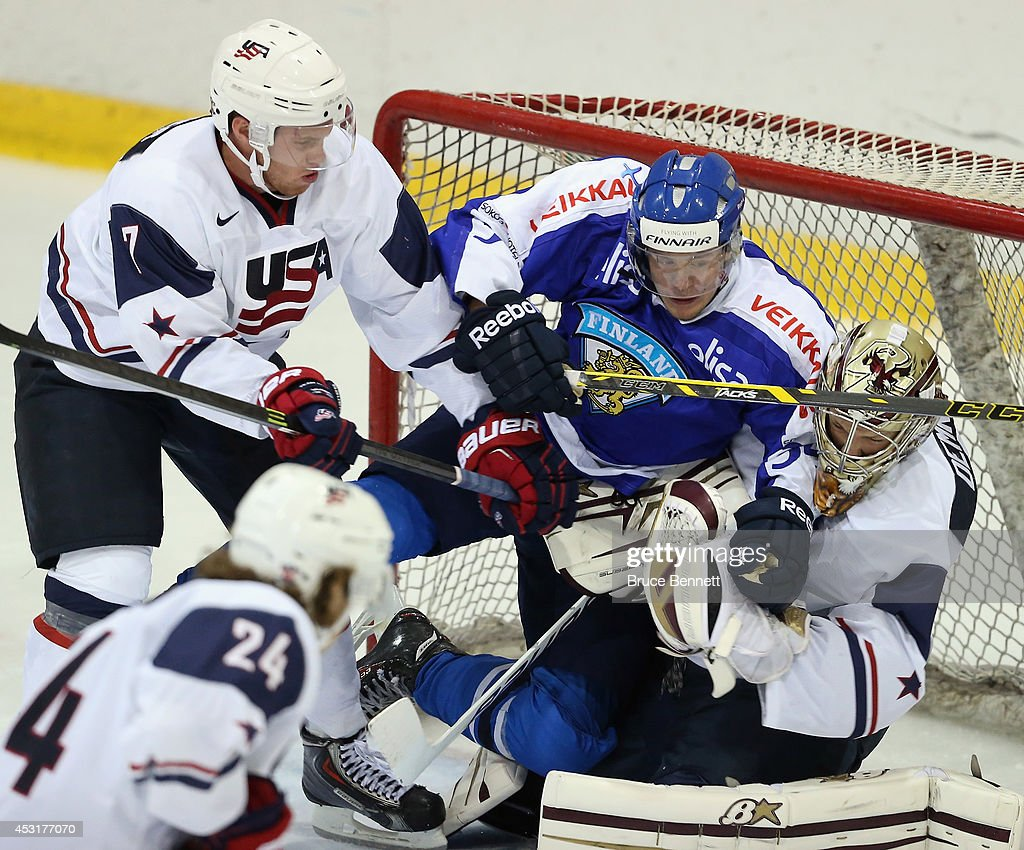 Finland v USA White - 2014 USA Hockey Junior Evaluation Camp