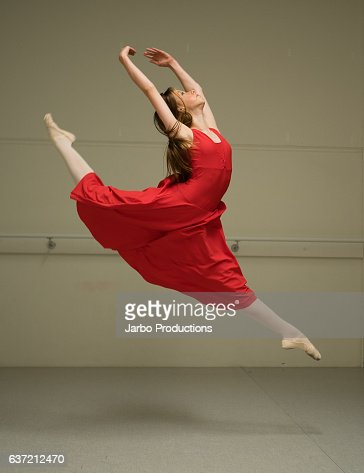 Teen Ballerina in full flight