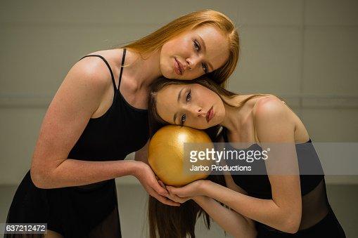 Teen Ballerinas pose