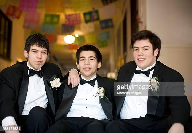 Teen Boys Attending Celebration