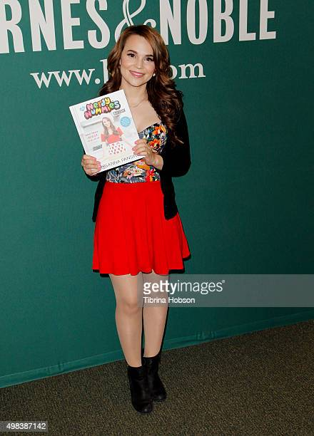 Teen Chef Rosanna Pansino signs copies of her new book 'The Nerdy Nummies Cookbook Sweet Treats For The Geek In All Of Us' at Barnes Noble at The...