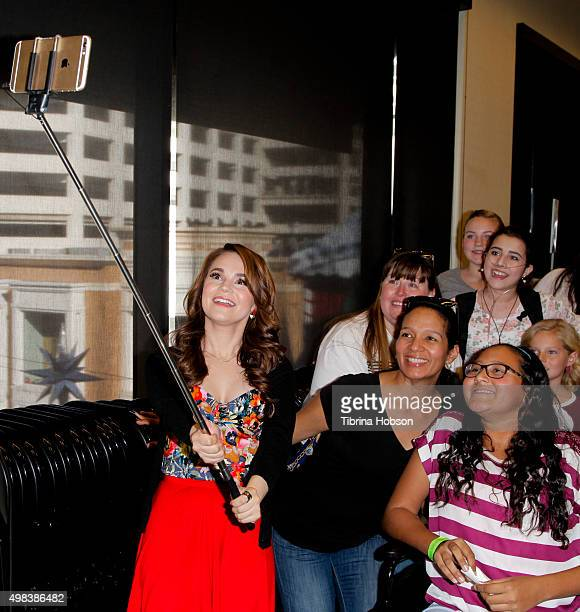 Teen Chef Rosanna Pansino takes a selfie with fans and signs copies of her new book 'The Nerdy Nummies Cookbook Sweet Treats For The Geek In All Of...