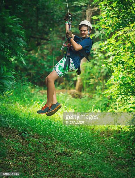 Jeunes lors d'un «Canopy Tour» au Costa Rica