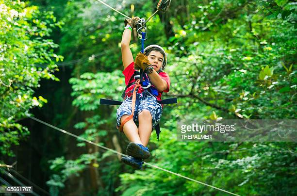 teen during a Canopy Tour in Costa Rica