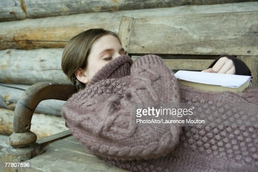 sleeping girl with shirt pulled up