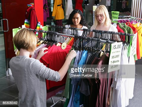 Teen Girls Clothes Shopping Stock Photo | Getty Images