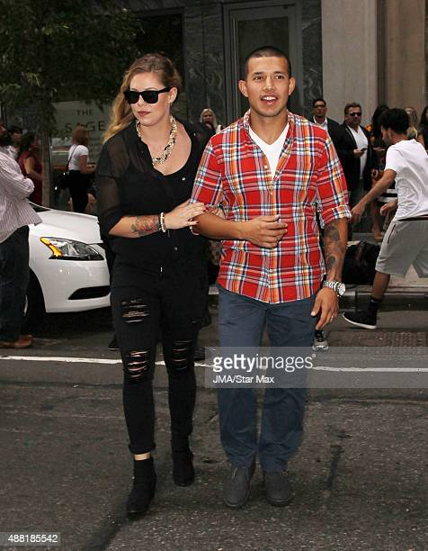 Teen Mom stars Kailyn Lowry and Javi Marroquin are seen in on September 13 2015 in New York City