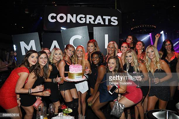 Teen Moms OG star Maci Bookout celebrates bachelorette party at 1 OAK Las Vegas in the Mirage Hotel and Casino September 2 2016 in Las Vegas Nevada