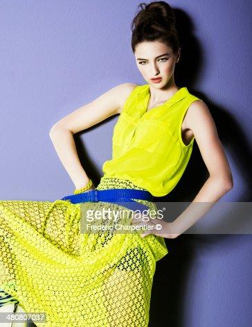 teen on a yellow dress