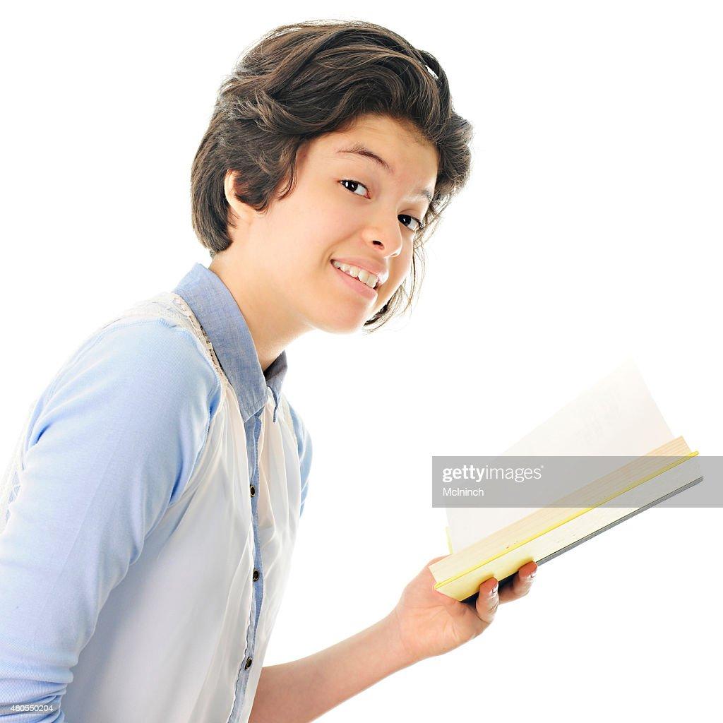 Teen Reader : Stock Photo