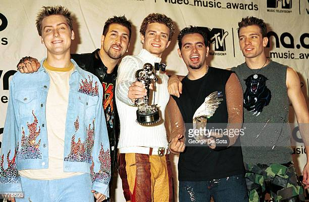 Teen sensations NSYNC win BEST POP VIDEO September 7 2000 at the MTV Awards at Radio City Music Hall in New York City