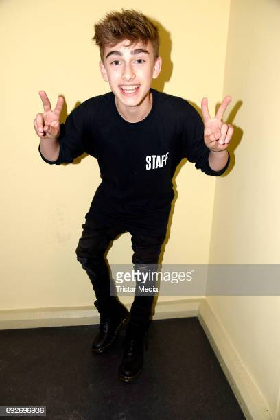 US teen star Johnny Orlando attends the norwegian twin brothers pop duo and teen stars Marcus Martinus showcase on June 5 2017 in Berlin Germany