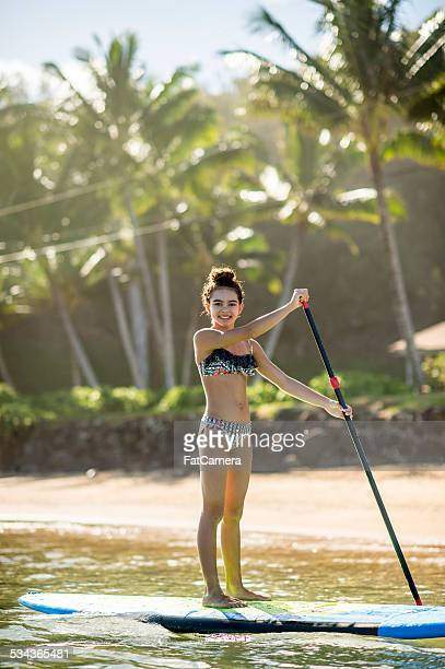Teen SUP paddleboarder