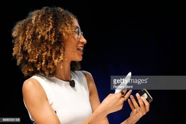 Teen Vogue Editor in Chief Elaine Welteroth speaks during the Cannes Lions Festival 2017 on June 20 2017 in Cannes France