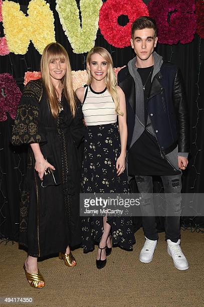 Teen Vogue EditorinChief Amy Astley actress Emma Roberts and actor GabrielKane DayLewis attend as Teen Vogue and Aerie celebrate Emma Roberts...