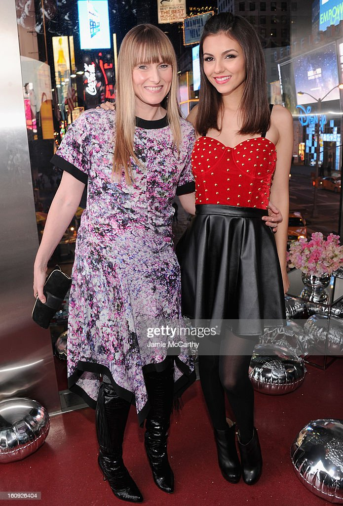 Teen Vogue Editor-in-Chief Amy Astley and actress Victoria Justice attend the 10th Anniversary of Teen Vogue and Aeropostale's Celebration of Chloe Grace Moretz's Sweet 16 at Aeropostale Times Square on February 7, 2013 in New York City.