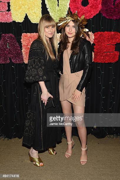 Teen Vogue EditorinChief Amy Astley and singer Elle Winter attend as Teen Vogue and Aerie celebrate Emma Roberts November Cover at 58 Gansevoort on...