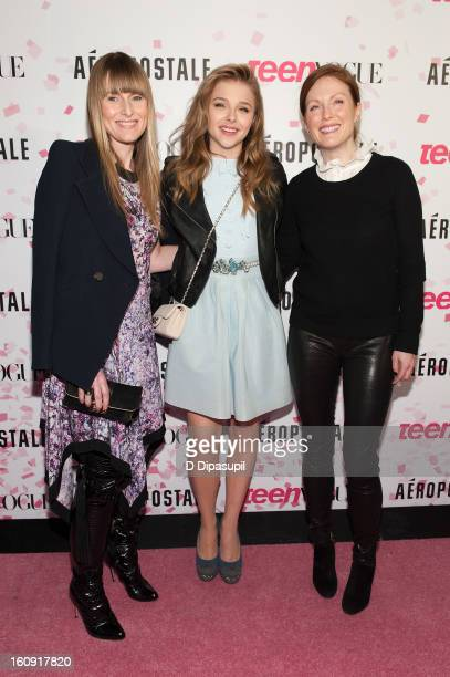 Teen Vogue EditorinChief Amy Astley Chloe Grace Moretz and Julianne Moore attend the Teen Vogue 10th Anniversary and Chloe Grace Moretz Sweet 16...