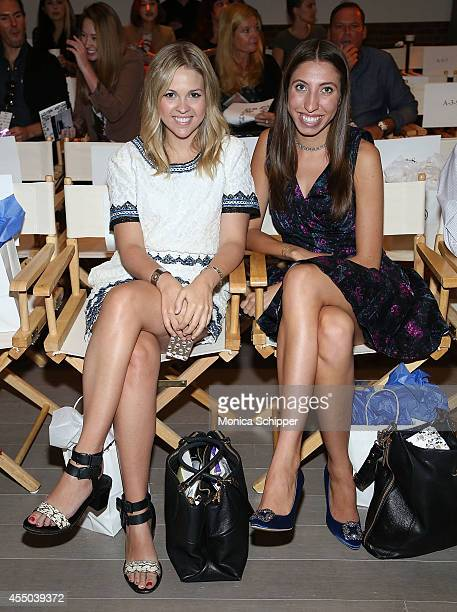 Teen Vogue Fashion Assistant Katie Sapp and Teen Vogue Fashion Director Caroline Vazzana attend the Isabella Rose Taylor By Dell fashion show during...