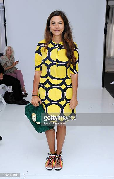 Teen Vogue Fashion Director Gloria Baume attends the Organic By John Patrick fashion show during MercedesBenz Fashion Week Spring 2014 on September 4...