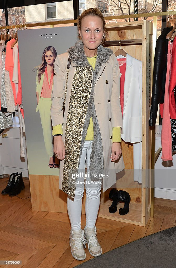 Teen Vogue fashion editor Mary Kate Steinmiller attends the Majed by Alexa Chung SS13 Event on March 27, 2013 in New York City.