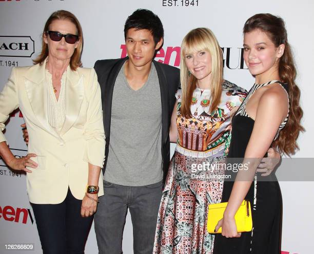 Teen Vogue Senior West Coast Editor Lisa Love actor Harry Shum Jr Teen Vogue EditorinChief Amy Astley and actress Hailee Steinfeld attend the 9th...