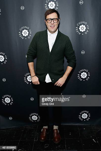 Teen Vogue Style Features Director Andrew Bevan attends the Alexa Chung for AG New York Launch Party on January 20 2015 in New York City