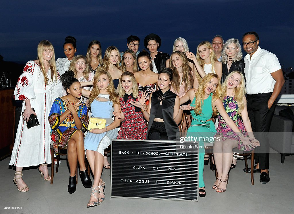 Teen Vogue x Simon 'Class of 2015' attend Teen Vogue x Simon BTSS Kick-off Dinner on August 5, 2015 in Los Angeles, California.
