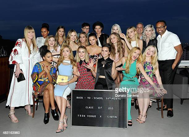 Teen Vogue x Simon 'Class of 2015' attend Teen Vogue x Simon BTSS Kickoff Dinner on August 5 2015 in Los Angeles California