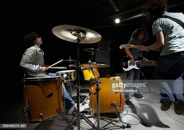 Teenage (14-16) band playing instruments