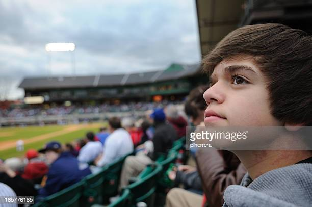 Teenage Baseball Fan