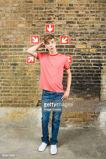 Teenage boy and arrows