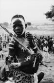 A teenage boy covered in body paint in Katcha in the Nuba Mountains of Kordofan in central Sudan 3rd December 1995