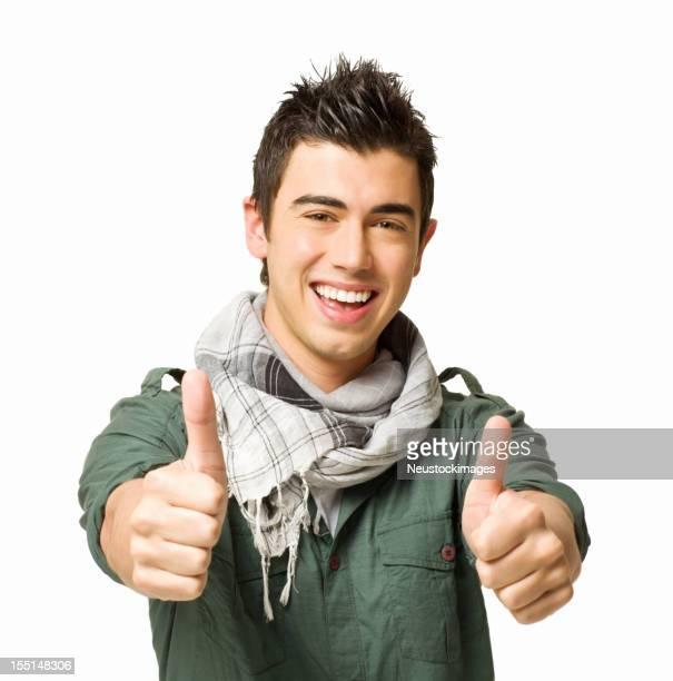 Teenage Boy Giving Two Thumbs Up