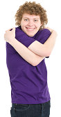 Portrait of a teenage boy on a white background. http://s3.amazonaws.com/drbimages/m/ih.jpg