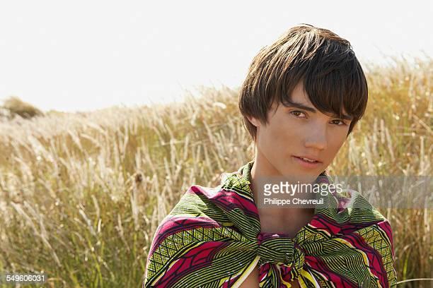 Teenage Boy in Field