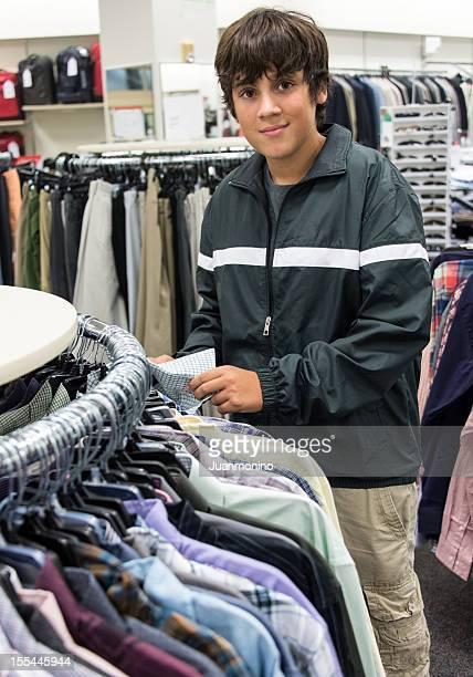 Teenage boy shopping
