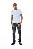 Teenage Boy Standing In Studio